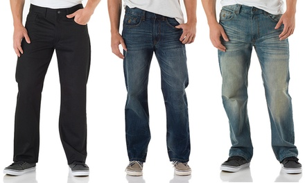 Rocawear Flame Stitch Men's Relaxed-Fit Jeans