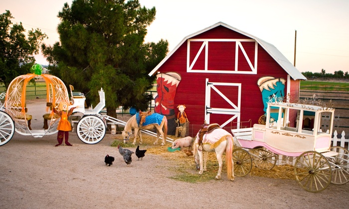 Charming Pony Parties' Fall Festival - Chandler: Pumpkin-Patch Entry with Petting Zoo and Extra Attraction for Two or Four Kids at Charming Pony Parties (Up to 58% Off)