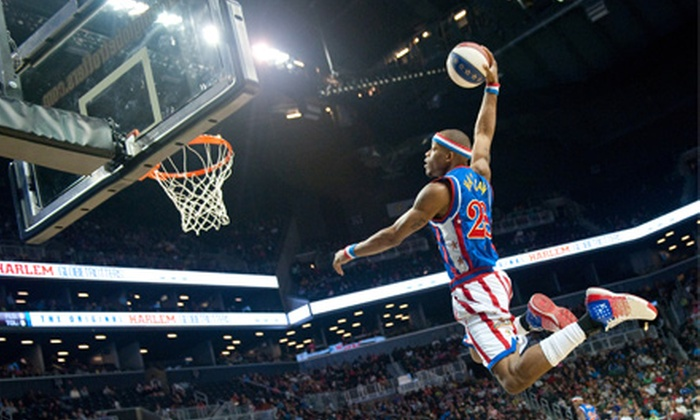 Harlem Globetrotters - Agriplace: Harlem Globetrotters Game at Credit Union Centre on April 19 at 7 p.m. (Up to 41% Off). Four Options Available.