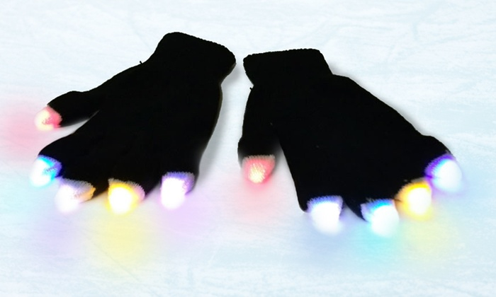 LED Party Gloves: LED Party Gloves. Free Returns