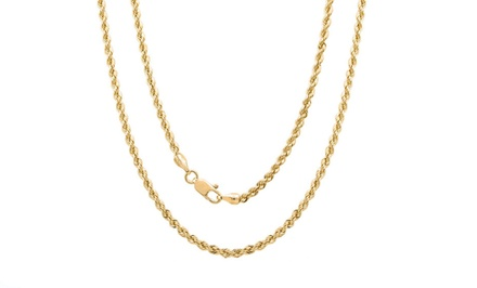 14-Karat Solid-Gold Rope Chains from $129.99–$159.99