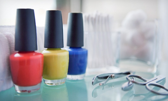 JJ Nails - Tampa: One or Two Mani-Pedis at JJ Nails (Up to 56% Off)