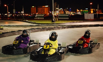 Two Go-Kart Races for One or Two or VIP Package for Two at Gene Woods Racing Experience (Up to 81% Off)