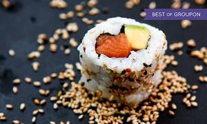 Sushi Oishii: Plateau japonais de 24 ou 32 pièces de sushis avec soupe, salade, soda, option brochettes dès 19,90 € chez Sushi Oishii