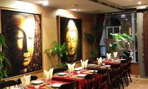 Thai Enjoy: Champagne, entrée, plat, dessert et saké pour 2 personnes à 39 € chez Thaï Enjoy