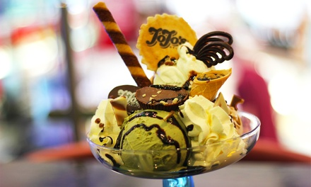 Waffle, Crepe or Sundae with Hot Drink for Two or Four at JoJo's Gelato (Up to 54% Off)