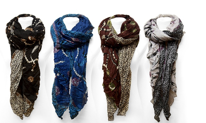 Fashion Print Scarves: Fashion Print Scarves. Multiple Colors Available. Free Returns.