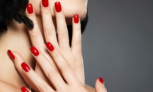 Nancy Koss Salon & Spa: Mani-Pedis at Nancy Koss Salon & Spa (Up to 55% Off). Three Options Available.