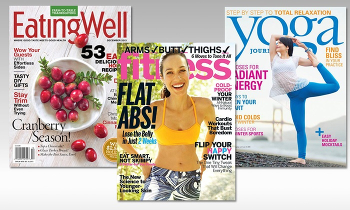 1- or 2-Year Subscription to Health and Fitness Magazines: 1- or 2-Year Subscription toHealth andFitnessMagazines. Multiple Titles Available.