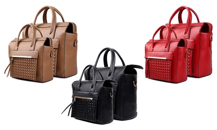 Miss Lulu Studded Pocket Handbags from £9.95 (Up to 61% Off)