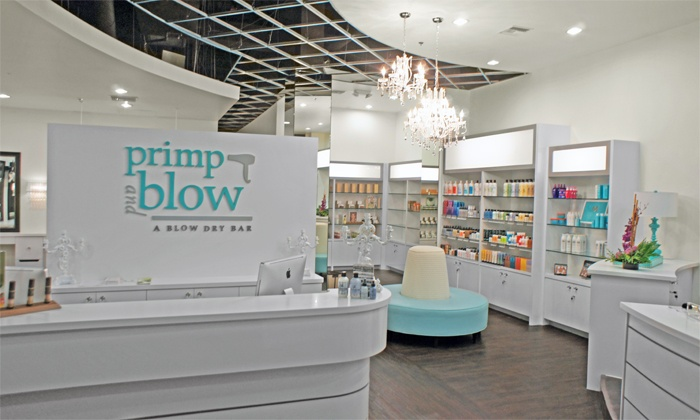 Primp and Blow: A Blow Dry Bar - Multiple Locations: $23 for Blowout, Hair-Therapy Treatment, and Scalp Massage ($55 Value)