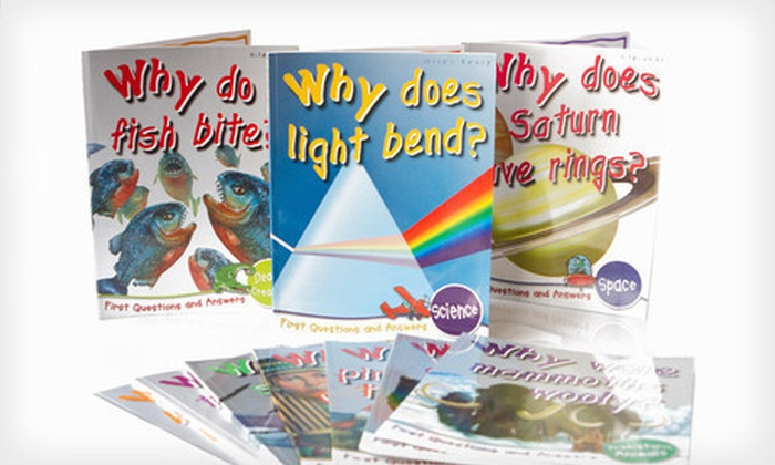 """First Questions and Answers 10-Book Children's Set: $19 for a Set of 10 """"Fbook-depot-cirst Questions and Answers"""" Children's Books ($89.50 List Price). Three Options Available."""