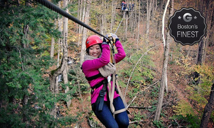 ArborTrek Canopy Adventures - Smugglers' Notch: Zip-line Canopy Adventure Tour for Two, Four, Six, or Eight from ArborTrek Canopy Adventures (Up to 45% Off)