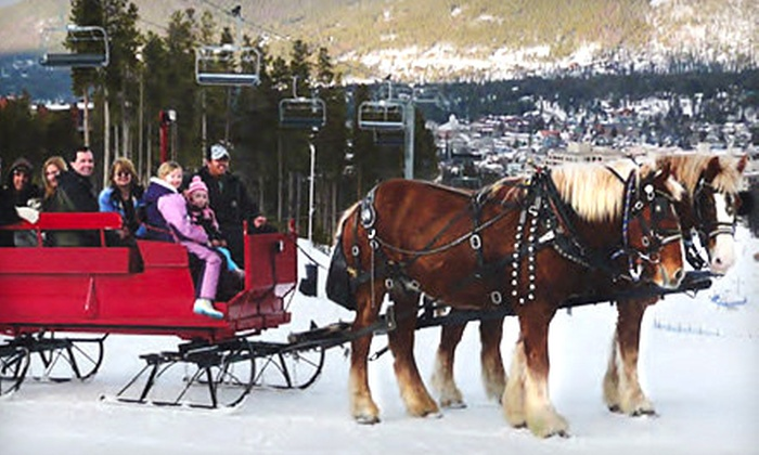 Breckenridge Stables - Breckenridge: Scenic Sleigh Ride or Dinner Sleigh Ride for Two or Four at Breckenridge Stables (Up to 56% Off)