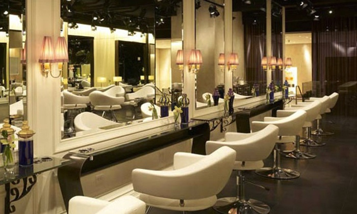 Warren-Tricomi Salon - Greenwich: Wash and Blow-Dry with Optional Haircut or Full Highlights at Warren-Tricomi Salon (Up to 58% Off)