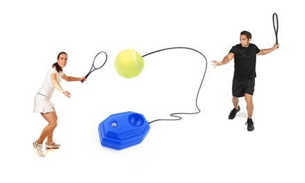 Tennis Training Ball with Elastic Rubber Rope Set: One ($9.95) or Two ($18)
