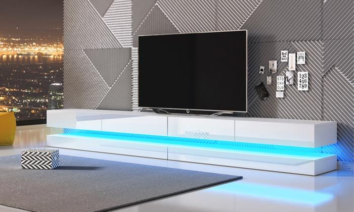 Meuble tv suspendu groupon for Groupon shopping arredamento