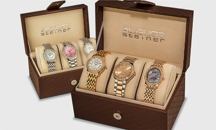 August Steiner Women's Diamond Wardrobe 3-Watch Set