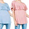 Olivia Pratt Women's Short-Sleeve Ruffle Top
