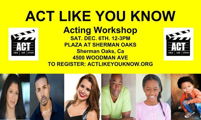 Act Like You Know - Los Angeles: Three-Hour Acting Class at ACT LIKE YOU KNOW (50% Off)