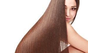 Purple Sage Salon : Brazilian Blowout with Optional Haircut from Purple Sage Salon (Up to 59% Off)