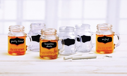 Set of 6 Chalkboard Shot Glasses