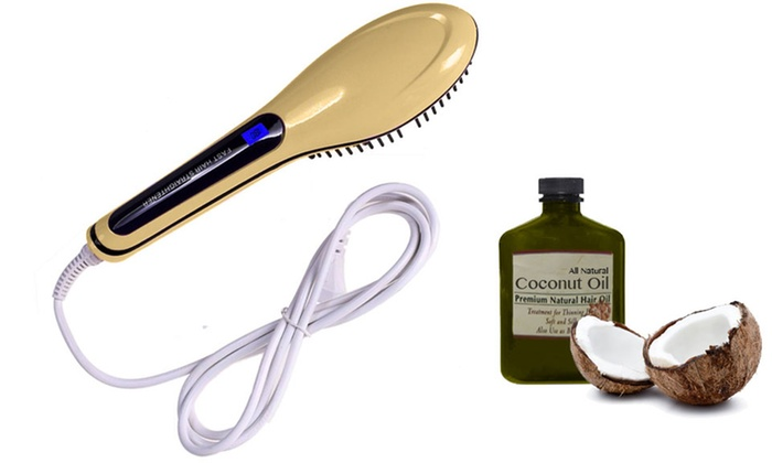 Simpli-Straight Pro Hair Straightening Brush with Aromatic Coconut Oil