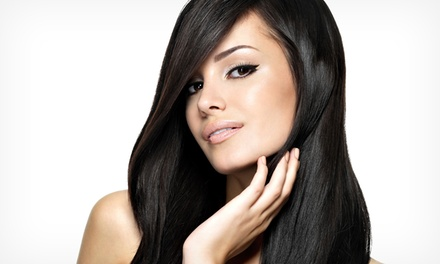 Brazilian Blowout with Optional Retouch or Extensions, or Cut at The Beauty Lounge Studio 23 (Up to 60% Off)