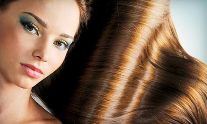 Déjà Vu European Spa & Salon - North Richland Hills: Haircut-and-Straightening Package at Déjà Vu European Spa & Salon (Up to 74% Off). Three Options Available.