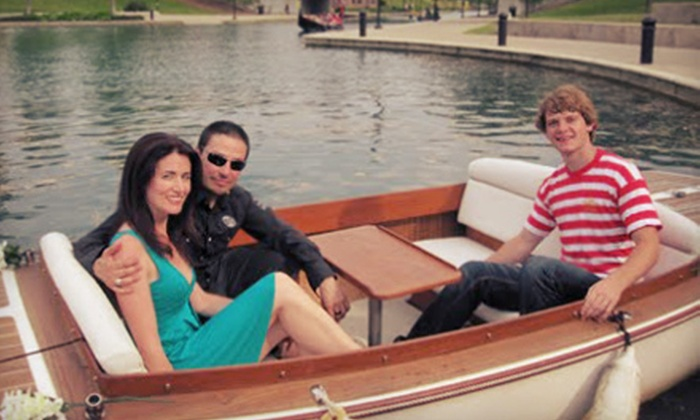 Old World Electric Boats - Downtown Indianapolis: $69 for a One-Hour Electric-Boat Ride for Up to Three from Old World Gondoliers ($150 Value)