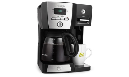 Mr. Coffee Versatile Brew 12-Cup Programmable Coffeemaker with Integrated Hot Water Dispenser (Refurbished)