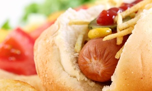 The Hot Dog Shoppe: $5 for $10 Worth of Gourmet Hot Dogs and Specialty Sausages at The Hot Dog Shoppe
