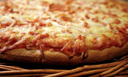 Two, Four, or Six Groupons, Each Valid for One Take-Out Large Cheese Pizza at Angelo's Pizza (Up to 56% Off)