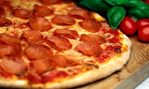Brick Oven Pizza: Pizza Meal for Two with Salads and Drinks or $10 for $18 Worth of Italian Food at Brick Oven Pizza