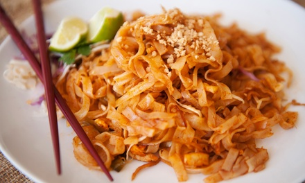 Thai Dinner Cuisine at Sawasdee Thai Restaurant (Up to 36% Off). Two Options Available.