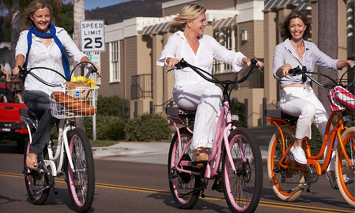 Pedego Electric Bikes - Huntington Beach: Three-Hour Electric-Bike Tour of Piers for One or Two from Pedego Electric Bikes in Huntington Beach (Up to 54% Off)