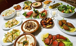 Yamal Alsham Knightsbridge (new): 11-Dish Lebanese Tasting Meal With Wine For Two or Four from £22.99 at Yamal Alsham Knightsbridge (70% Off)