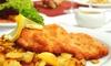 Mittagsmenü mit Schnitzel
