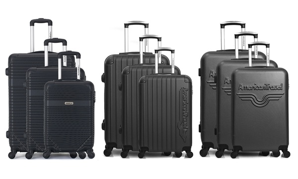 Optimista desfile Indomable  Set de 3 maletas American Travel