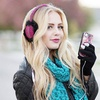 Earmuff-Headphones and Touchscreen-Gloves Set