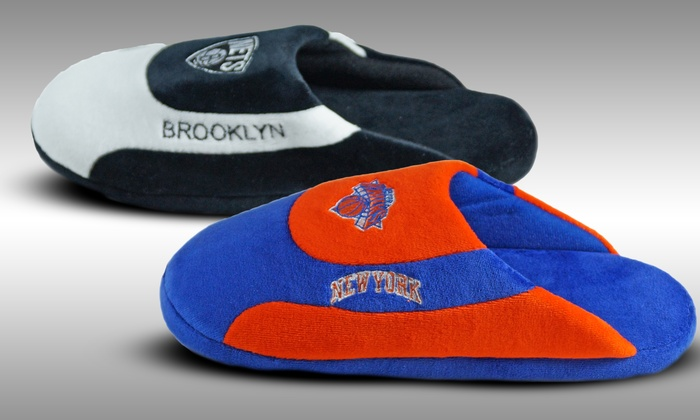 NBA Low Pro Stripe Slippers: NBA Low Pro Stripe Slippers. Multiple Teams Available. Free Returns.