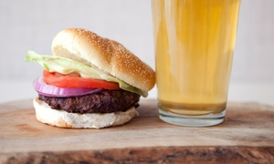 7 Bar & Grill: Burger Meal with Fries and Beer for Two or Four at 7 Bar & Grill (39% Off)