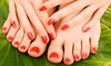 Lux Diamond Nails Mobile Spa - Chippewa: One or Three Deluxe Manicures and Pedicures at Lux Diamond Nails (Up to 54% Off)