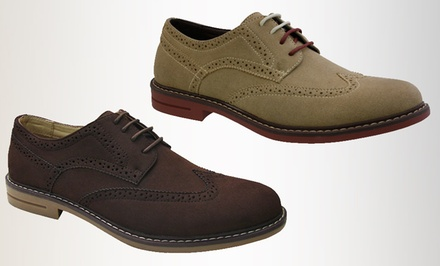 Izod Carey Men's Business-Casual Shoes in Dark Brown or Wheat. Free Returns.