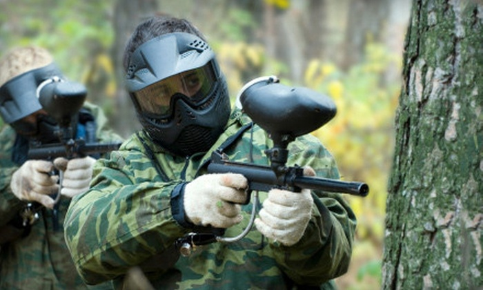 Paintball Club of Choctaw - Choctaw: Paintball Excursion with Gear Rental and Ammo for Two, Four, or Eight at Paintball Club of Choctaw (Up to 55% Off)