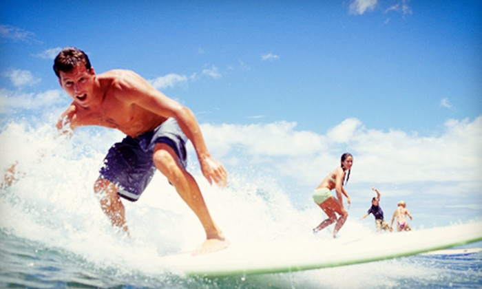 WB Surfing - Haleiwa: Two-Hour Group Lesson for One, Two, or Four from WB Surfing (Up to 59% Off)