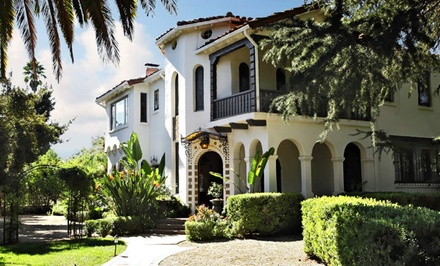 Groupon Deal: 2-Night Stay with Massage or Horseback Riding and Beer or Wine Tasting for Two at Acacia Mansion in Ojai, CA