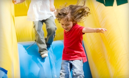 $199 for a Themed Party for Up to 16 with a Bounce House, Piñata, and Tableware from Calgary Party Rental ($399 Value)