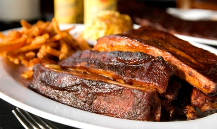 Slow-Smoked BBQ and Drinks for Two or Four at The Cats Restaurant & Tavern (Up to 39% Off)
