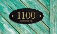 Standard, Medium, or Large Custom Address Plaque from CustomAddressPlaques.com (Up to 74% Off )